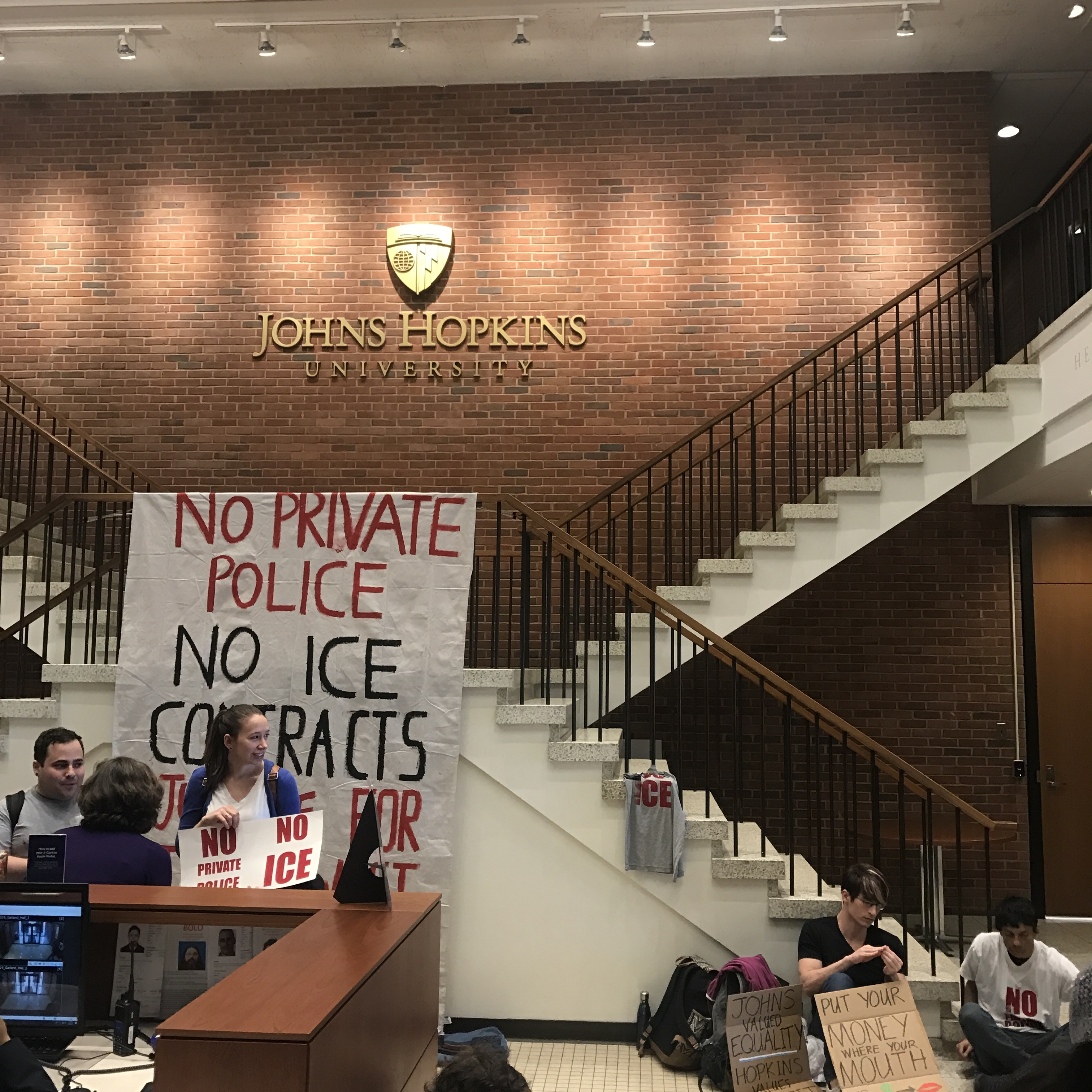 Busty ally big ass Keep On Pushing Student Sit In Opposes Militarization Of Johns Hopkins