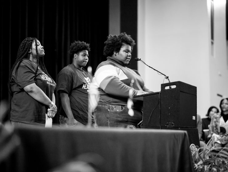 Students speak at Baltimore City Council Hearing